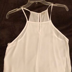 Long white sheet high slitted GUESS maxi tank